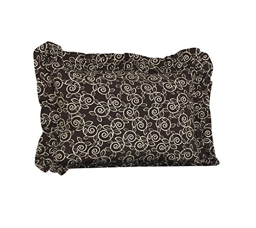 Raspberry Dot (Cotton Tale Designs Dot Ruffled Pillow Sham, Raspberry)