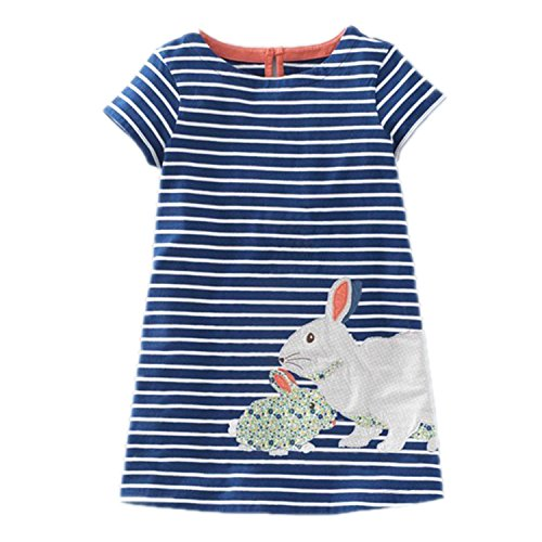 Huaqiang fashion Little Girls Summer Dresses Robe Enfant Princess Dress Costumes for Kids Clothing Rainbow Print 100% Cotton Girls Jersey Clothes as photo 7 - Jack And Jill Costume Sale
