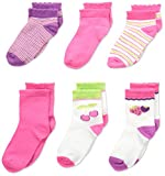 Product review for Fruit of the Loom Girls' 6 Pack Crew and Ankle Socks