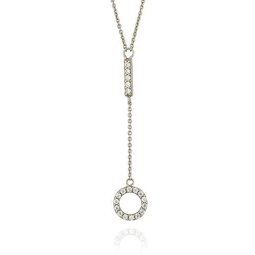 b3ef53ad13c4 Ingenioso joyas colgante de plata de ley Círculo Abierto Collar n3454 sil   Amazon.es  Joyería