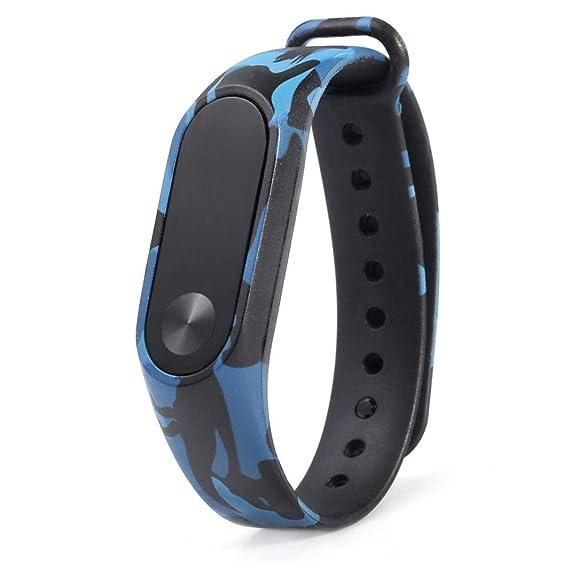 Bestow Xiaomi MI Band 2 Patr¨®n de Camuflaje Correa Wristband Bracelet Replacement Band