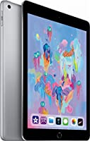 Apple iPad (2018 Model) with Wi-Fi, 9.7'' Retina Display, A10 Fusion chip, Touch ID, Apple Pay, Night Shift, Apple Pencil Supported -128GB - Space Gray