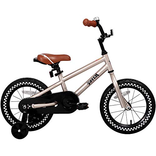 - JOYSTAR 14 Inch Silver Kids Bike for 3 4 5 Years Boys, Kids Bicycle with Training Wheel & Coaster Brake, 85% Assembled