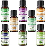 Farimma Aromatherapy Top 8 Essential Oils Gift Set, 100% Pure & Therapeutic Grade Plant Oils - 10 ml Each (Lavender, Eucalyptus, Rosemary, Lemongrass, Peppermint, Orange, Tea Tree and Frankincense)