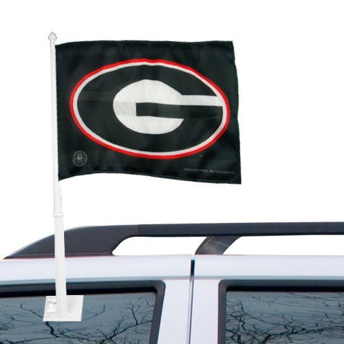 Rico Industries NCAA Georgia Bulldogs G Logo Car (Georgia Bulldogs Ncaa Car Flag)
