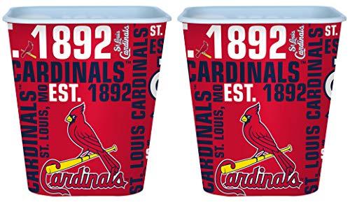 Boelter St. Louis Cardinals 3 Liter Reusable Plastic Snack Bucket 2 Pack