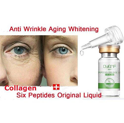(QYANF Argireline Liquid Six Peptides Serum For Striae Anti-Wrinkle Cream Anti Aging Collagen Rejuvenating Face Lift Skin Care)