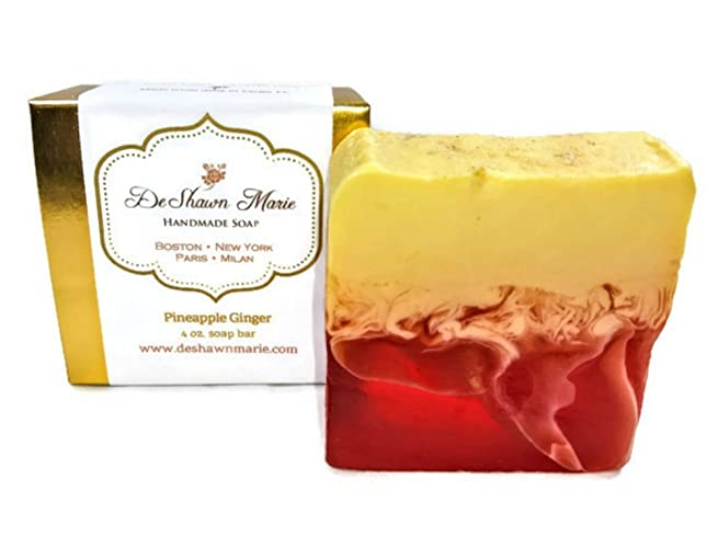 Amazon.com: Pineapple Ginger Soap, 4oz Handmade Soap Bar, Tropical ...