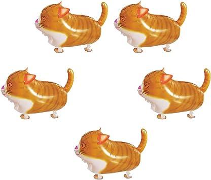 Toyvian Globos para Gatos Globos para Animales Globos de Papel de Aluminio decoración de Globos para Gatos Juguetes Divertidos para niños, 10 Piezas: Amazon.es: Juguetes y juegos