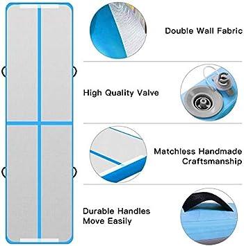 Air Track Gym 3M 4M 5M 6M Tapis de Gymnastique Gonflable avec Pompe 10//20cm d/épaisseur Tapis dexercice Air Tumbling Mat pour Gymnaste Yoga Taekwondo Pom-Pom Girl