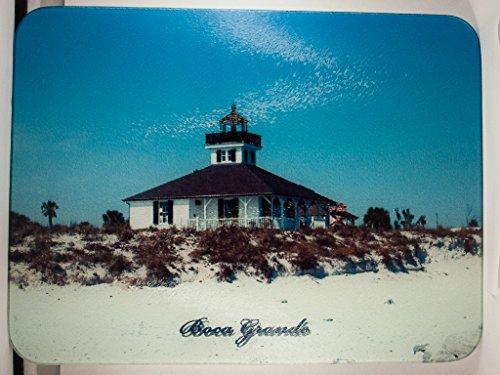 Boca Grande Lighthouse Glass Cutting Board (Boca Grande Lighthouse)