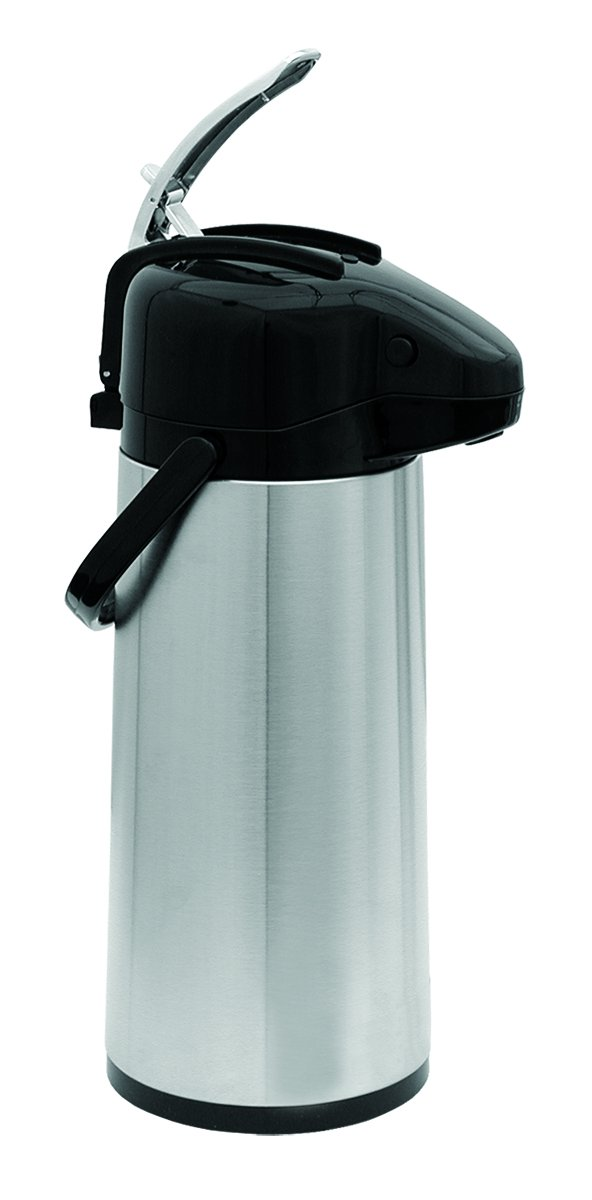Update International (NVAL-22BK) 2.2 L Stainless Steel Val-U-Air Glass Lined Air Pot, Case of 6