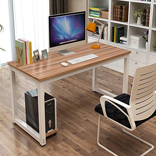 Toolsempire 47 Office Computer Desk PC Laptop Dining Table Study Writing Desk Workstation for Home Office Furniture Light Brown