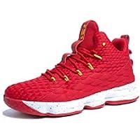 Zapatos Hombre Deporte de Baloncesto Sneakers de Malla para Correr Zapatillas Antideslizantes Negro Rojo Champán Verde…
