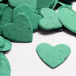 Heart Shaped Plantable Seed Confetti in Teal Value Pack (two 350 piece bags = 700 pieces of seed confetti) by BPW