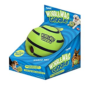 Wobble Wag Giggle Ball, Interactive Dog Toy, Fun Giggle Sounds When Rolled or Shaken, Pets Know Best, As Seen On TV 38