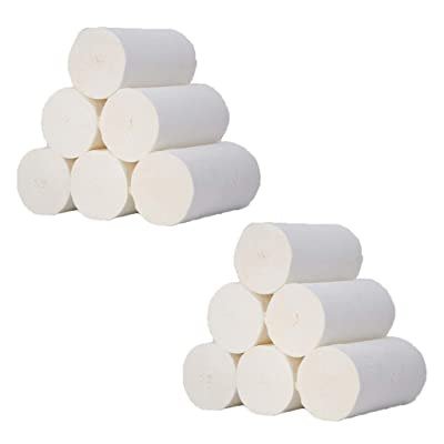 Paper Towels, 12pcs Roll Paper Tissue Paper Roll 4 Layer Thickened Household Paper (white): Kitchen & Dining