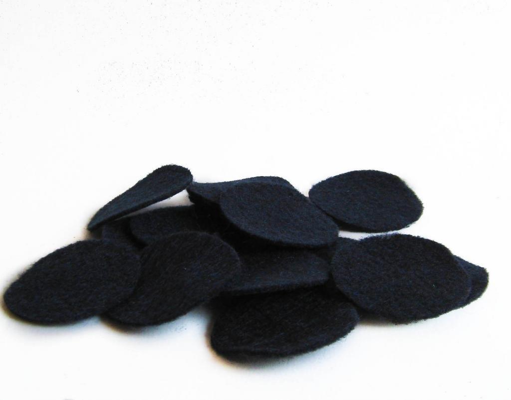 50 pieces Nakpunar 1.5 inches Gray Felt Circles