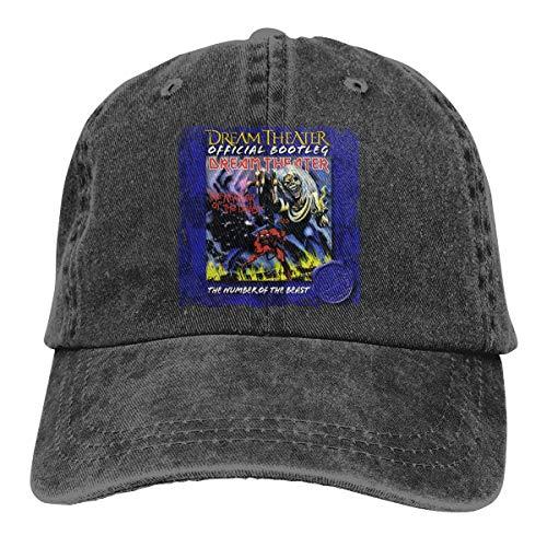 Adam B George Unisex Dream Theater The Number of The Beast Classic Sunhat Denim Cap