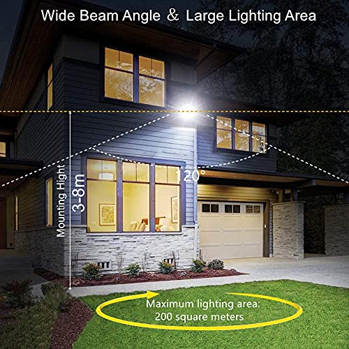 HUGCHG 2 Pack 100W LED Flood Light Outdoor,11000lm Super Bright Outdoor Security Lights,IP66 Waterproof,6000K Daylight White Floodlight for Yard, Garden, Patio, Playground