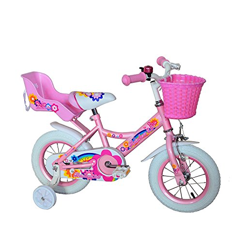 Nice American Phoenix Upgraded Multi Size Girl Bike 12-Inch 16-Inch Wheels Avaiable BMX Freestyle Bicycle With Training Wheels Steel Frame, Newest Stytle Girl's Bike free shipping