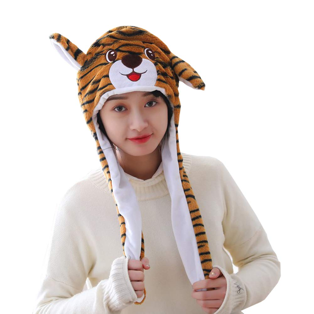 Galleon - HYYER Tiger Hat Animal Cap With Airbag Ear Movable Funny Party  Birthday Gift 59dc1e7a0e48