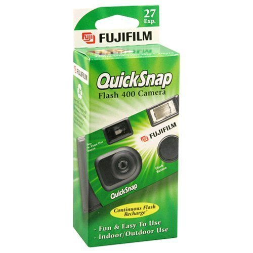 White Black Camera Disposable - Fujifilm QuickSnap Flash 400 Disposable 35mm Camera (Pack of 2)