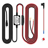 Dash Cam Hardwire Kit Mini USB Hard Wire Car Charger Cable Kit 12V/24V to 5V/2A for Dash Cameras GPS (Mini USB and Fuse Kit)