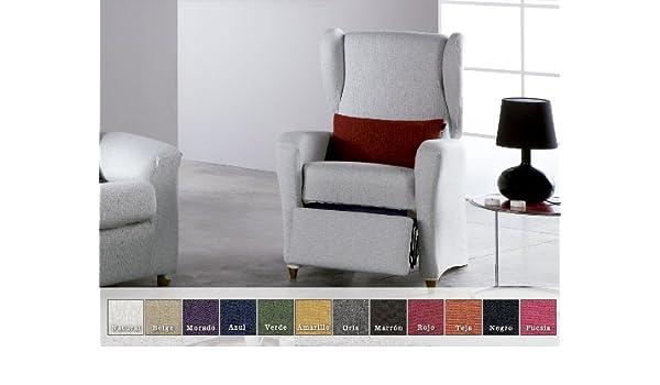 456719919ba Eysa - Funda de sofá elástica moran sillón relax, color beige: Amazon.es:  Hogar