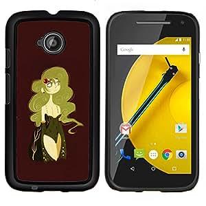 """Be-Star Único Patrón Plástico Duro Fundas Cover Cubre Hard Case Cover Para Motorola Moto E2 / E(2nd gen)( Mujer atractiva Castaño Rubio Dorado"""" )"""