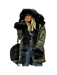 Women's Coat, JMETRIE Winter Warm Hooded Fishtail Long Sleeves Overcoat Jacket Parka