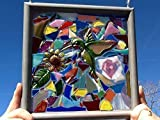 Hummingbird Stained Glass Window Art Sun Catcher