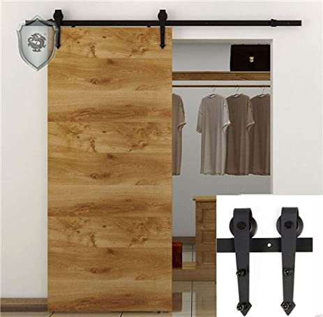 Amazon 4ft Heart Shape Black Single Sliding Barn Interior Door
