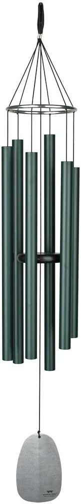 Woodstock Chimes BPLRG The Original Guaranteed Musically Tuned Chime Large Bells of Paradise, 44-Inch, Rainforest Green