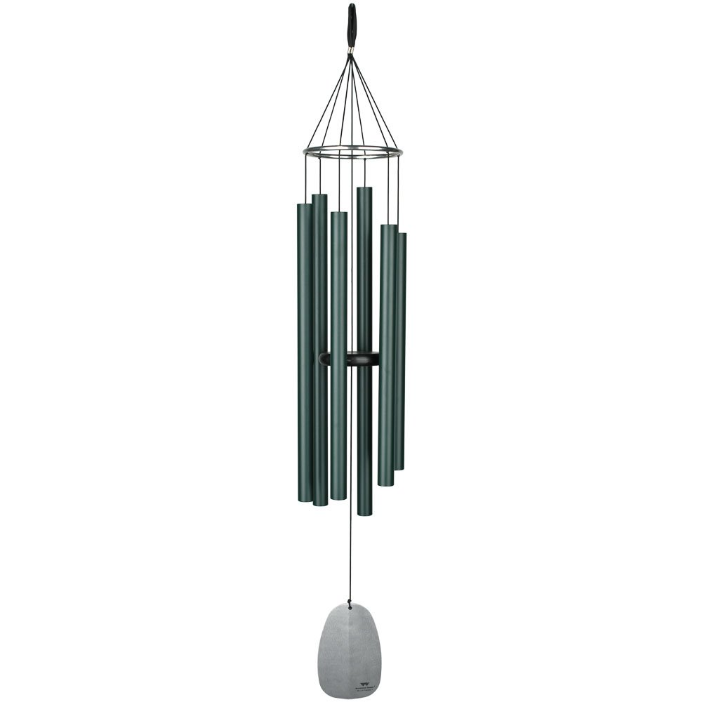 Woodstock Chimes BPLRG Large Bells of Paradise, 43'' Rainforest Green