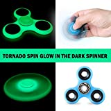 Glow in the Dark Fidget Spinner that Can Spin for Up to 3 Minutes - Perfect for ADD, ADHD, Stress Relief, Anxiety, Boredom - Ideal for Kids, Teens, and Adults - Relax and Refocus Your Mind Anywhere