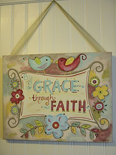 11x14 By Grace Through Faith Canvas Painting Art by The Ivy Lane