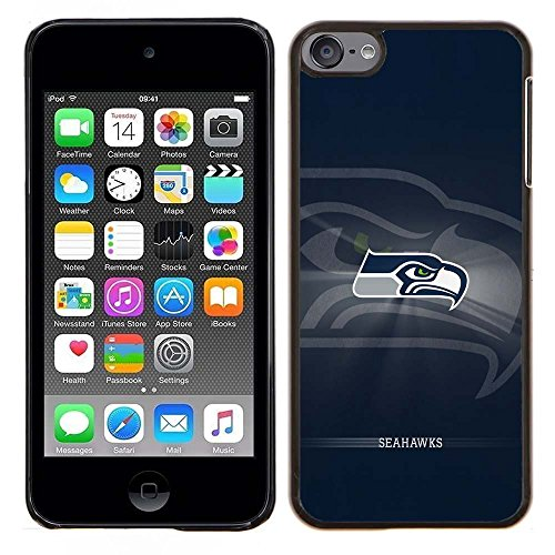 iPod Touch 5 Case, iPod Touch 6 Cases, Seahawks Logo 23 Drop Protection Never Fade Anti Slip Scratchproof Black Hard Plastic Case