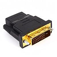Everycom DVI (24+1) Male to HDMI Female Adapter - Black