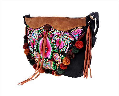 7c36a1c250a 100% Handmade Handbag Purse Shoulder Sling Bag - Fine Oriental Embroidery  Art #151