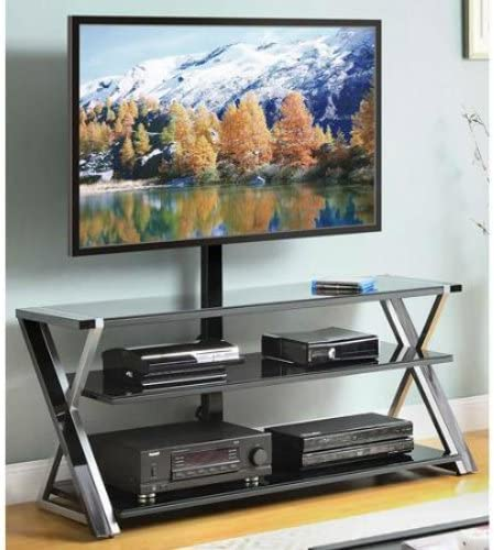 Whalen 3-In-1 Black TV Console