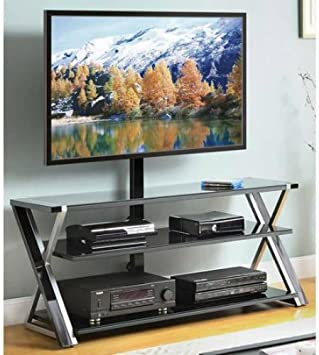 Amazon Com Whalen 3 In 1 Black Tv Console For Tvs Up To 70 By Whalen Kitchen Dining