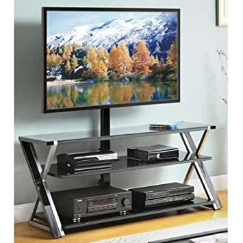 Whalen 3-In-1 Black TV Console for TVs up to 70 by Whalen