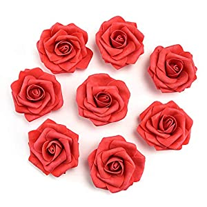 fake flowers heads Artificial PE Foam Roses Flowers for Home Wedding Decoration Scrapbooking Handmade Kissing Balls 20pcs 7cm 2