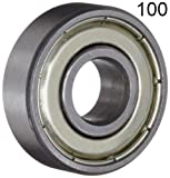 608 bearing sealed - One Hundred (100) 608ZZ 8x22x7 Shielded Greased Miniature Ball Bearings