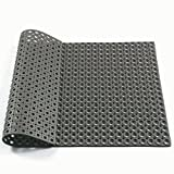 Hefty Mat rubber Door Matting for the door of Office,Home,Kitchen and other, Black, 35.4×23.6×0.28 inch