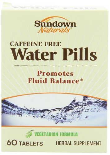 Pilules Sundown Naturals d'eau naturels comprimés supplément de fines herbes, 60 comte emballage (pack de 3)
