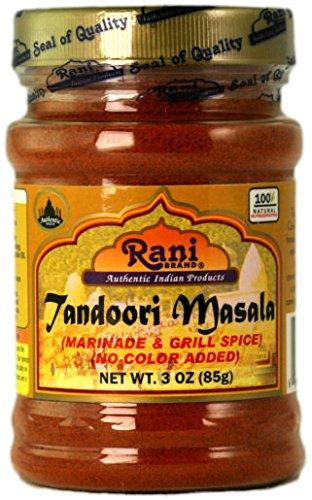 Rani Tandoori Masala (Natural, No Colors Added) Indian Spice Blend 3oz (85g) ~ Gluten Free & Salt ()