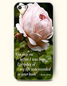 iPhone 5 / 5s Case You Saw Me Before I Was Born Everyday Of My Life Was Recorded In Your Book Psalm 139¡êo16 - Bible Verses - Hard Back Plastic Case - OOFIT Authentic