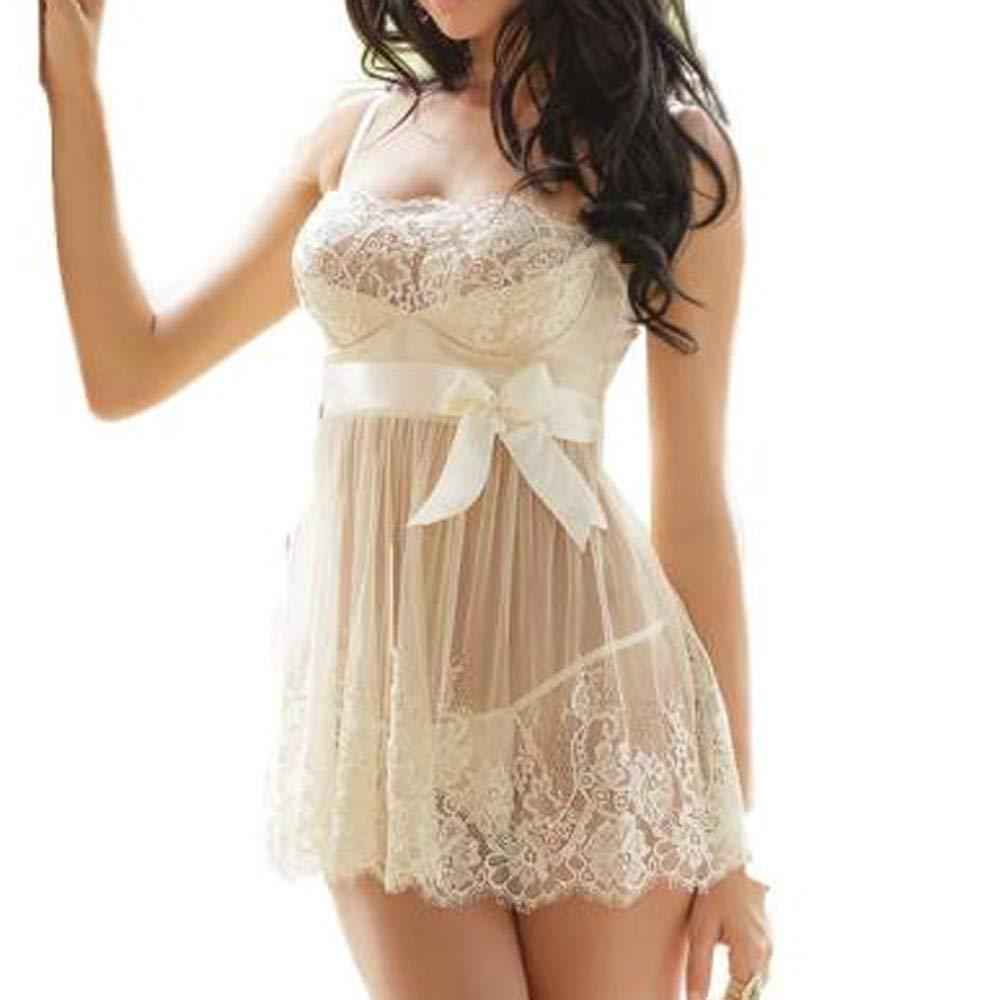 HHmei Women White Bridal Mesh Lace Crochet Dress Sleepwear Robes Underwear Suits HHmei_Intimate_Oct22_706